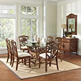Indoor 7 PC Rattan & Wicker Dining Set in TC Antique Finish (Deco-Spa)