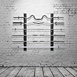 Ollieroo Olympic Barbell Rack Bar Storage, Horizontal Wall Mount Bar Plate Storage Rack, Holds 6 Barbells