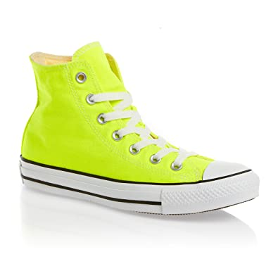 Converse Chuck Taylor Hi Top Electric Yellow mens 6/womens 8