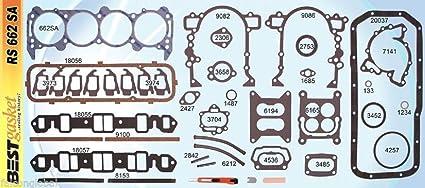 stock Cadillac 429 1964-1967 Full Gasket Set BEST Head+Intake+Exhaust+Oil Pan Gaskets