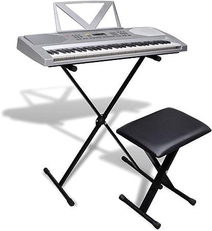 FZYHFA Piano Eléctrico de 61 Teclas con Atril,Teclados ...
