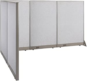 "GOF Freestanding L Shaped Office Partition, Large Fabric Room Divider Panel, 72""D x 108""W x 60""H"