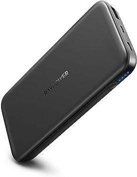 RAVPower Quick Charge 3.0 12000 mAh Power Bank Batería Externa, Dos Puertos, QC 3,0 Salida y ISmart 2.0 USB Conector Entrada, portátil y Ligero, 2 A, indicador LED para iPhone 8/X: Amazon.es: Electrónica