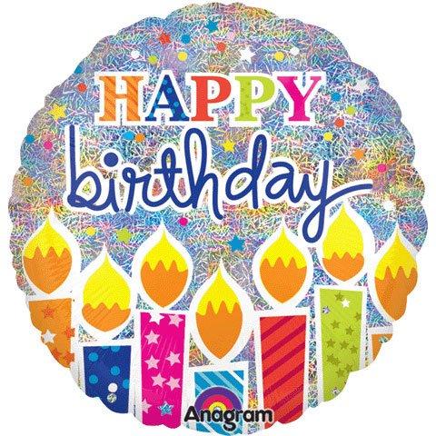 Anagram International Shimmering Birthday Candles Balloon, 18