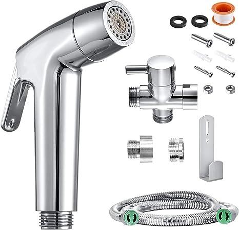 1X Tragbar Handbrause Bidet Spray ABS Duschkopf WC Badezimmer Sprayer Kopfdüse