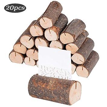 20 Stuck Holz Holzsteg Tischkartenhalter Platzkartenhalter Holz