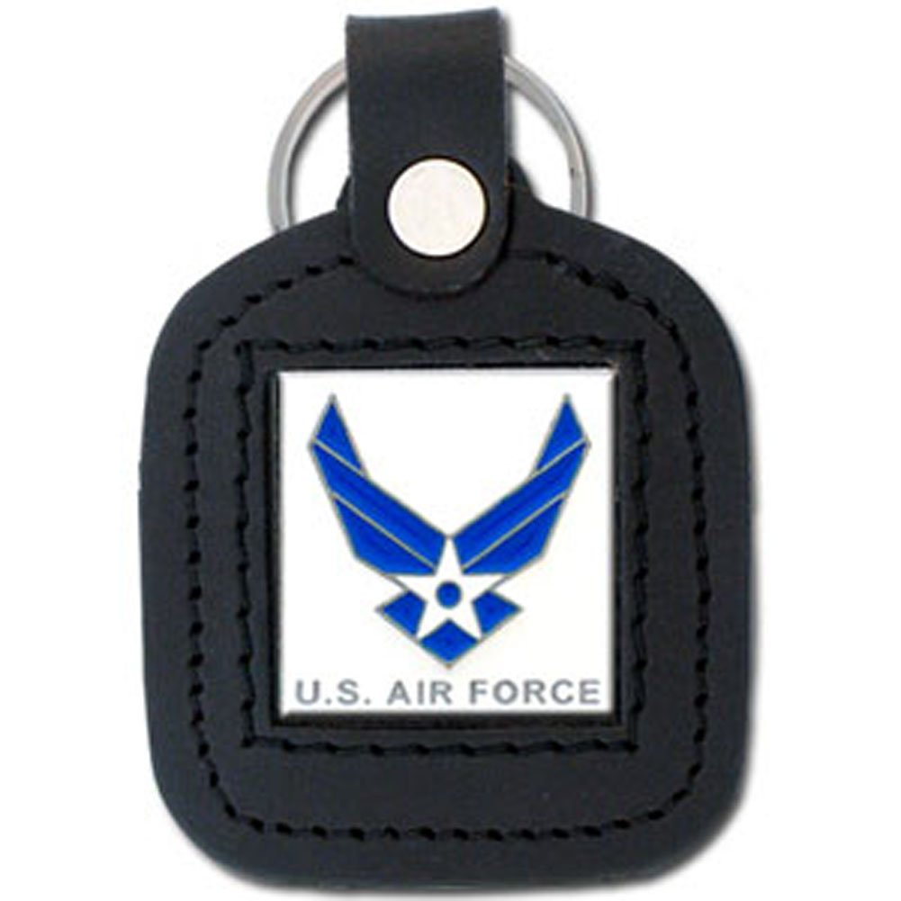 US Air Force Leather Pendant Keychain