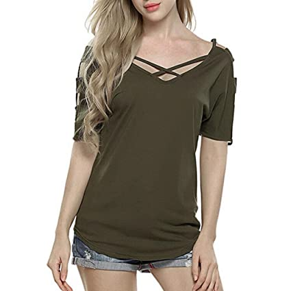 LILICAT® Camisetas Mujeres Verano, 2018 Camiseta de moda Blusa de manga corta Blusas con