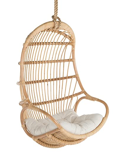 Merveilleux Kouboo Hanging Swing Chair, Large, Natural