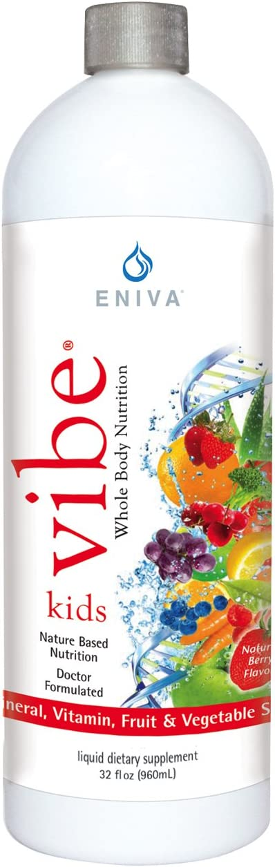 Eniva Kids Vibe Childrens Liquid Full Spectrum Daily Multi Minerals Vitamins 32 oz