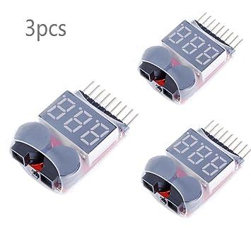JZK 3 Alarmas zumbador tester con lipo batería baja tensión ...
