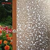 Arthome Película Decorativa de Vidrio,90CM x 254CM,Proteger La Privacidad,Sin Pegamento Vinilo Pegatina de Ventanas…