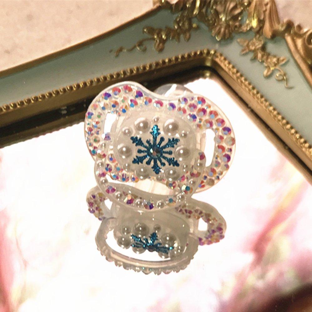 Dollbling personalizado única chispa rhinestones/blanco perlas ...