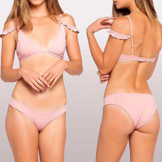 Mymyguoe Bikinis Mujer Braga Alta Bañadores de Mujer Dos Piezas Traje de baño Mujer Sexy Bikinis brasileños Bikini Tanga Playa Bañadores de Natacion ...