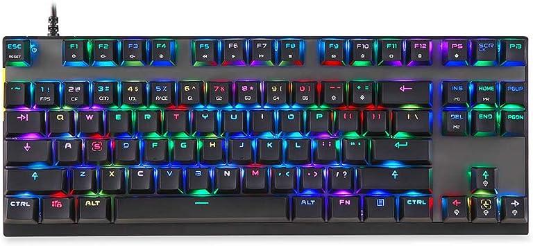 Harwls K82 Gaming Mechanical Keyboard RGB LED Backlight USB ...