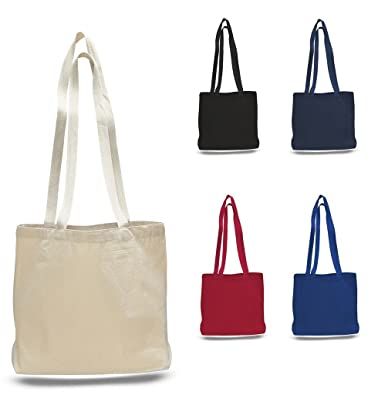 Amazon.com: Large Messenger Canvas Blank Tote Bag with Long Straps ...
