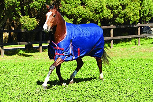 Waterproof Horse Sheet (Weatherbeeta Original 1200D Lite Weight Turnout Sheet- Navy/Red/White-72