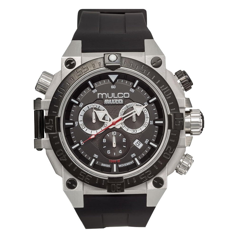 Mulco mb6 – 92565 – 027 Buzo Diveクロノグラフブラックシリコンバンド腕時計 B01M3UO7SO