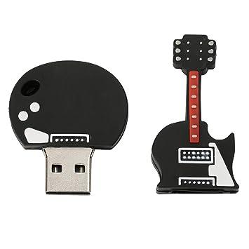 Sharplace Palo de Memoria Pen Drive Forma de Guitarra Eléctrica Dibujo Animados Disco U USB 2