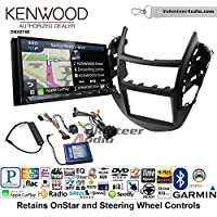 Volunteer Audio Kenwood DNX874S Double Din Radio Install Kit with GPS Navigation Apple CarPlay Android Auto Fits 2015-2016 Chevrolet Trax