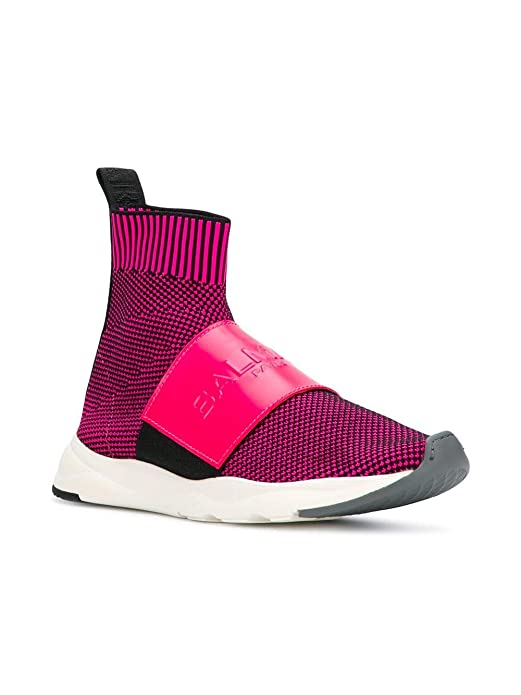 Balmain W8fc635pzln326 Top Sneakers Hi Fuchsia Damen Polyamid ul15KcTFJ3