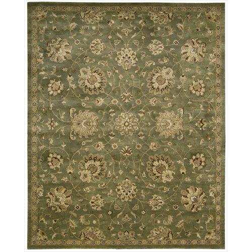 (Nourison Jaipur (JA46) Green Rectangle Area Rug, 3-Feet 9-Inches by 5-Feet 9-Inches (3'9
