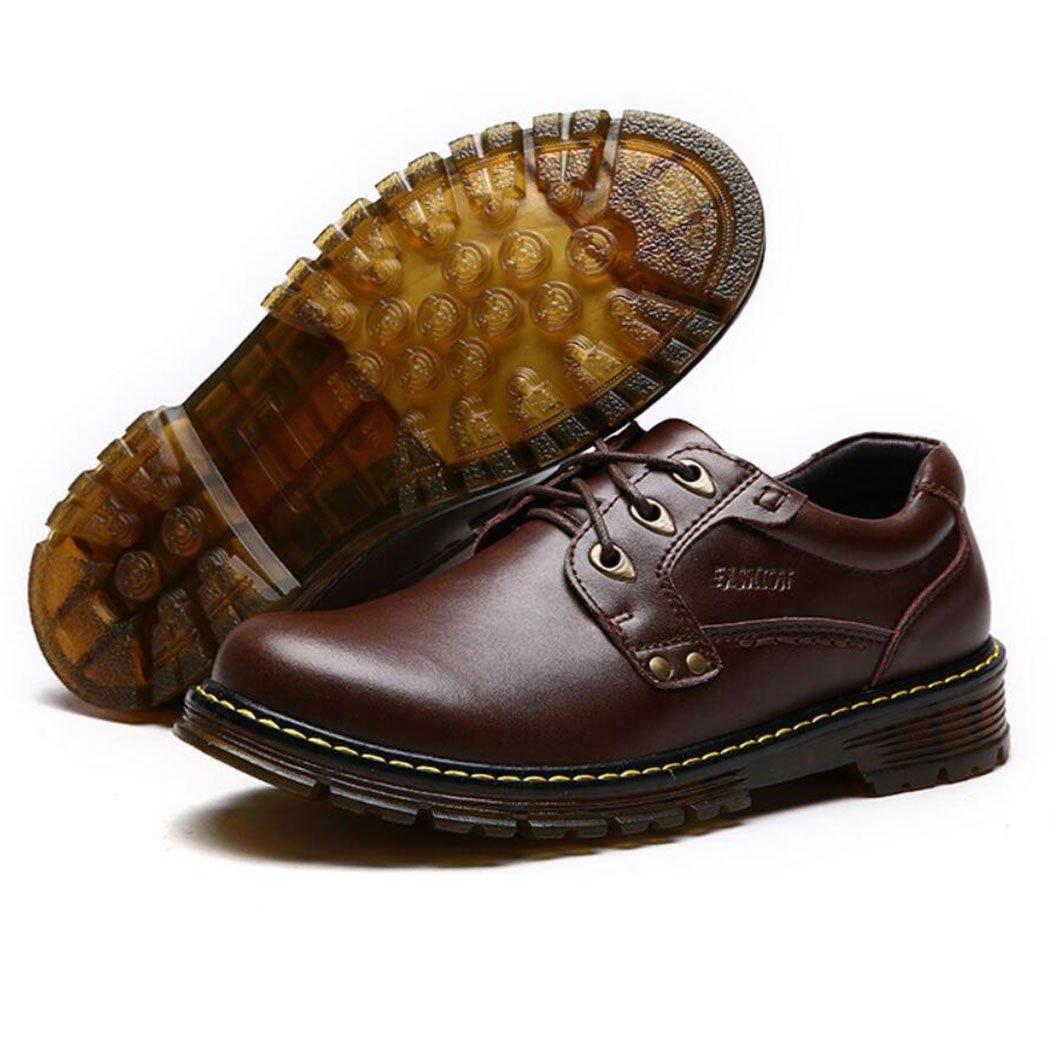 GAOLIXIA Zapatos casuales de cuero real de los hombres de la moda de verano Martin Boots zapatos de herramientas al aire libre zapatos de trabajo zapatos de seguridad negro marrón ( Color : Marrón , tamaño : 40 ) 40|Marrón