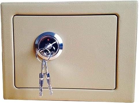 Oficina y papelería Caja fuerte compacta con gabinete de almacenamiento de oficina en casa con llave de emergencia antirrobo - Estructura de acero Caja fuerte pequeña (23 * 17 * 17 cm) 9-26: Amazon.es: Bricolaje y herramientas