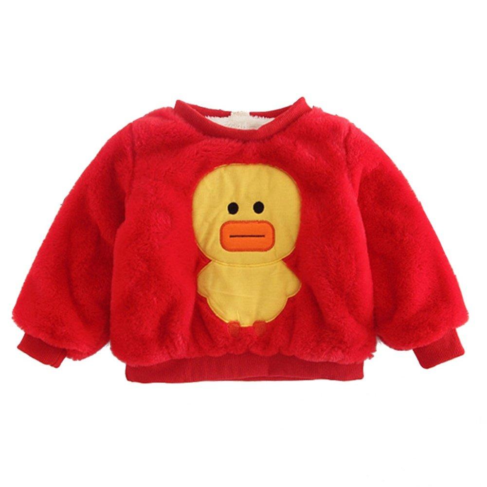 Weixinbuy Toddler Girl Long Sleeve Flannel Fleece Rabbit Cartoon Pullover Blouses Tee Shirts Tops