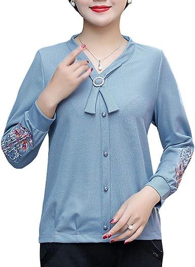 DISCOUNTL - Camiseta de Manga Corta para Mujer, diseño de árbol de Navidad, para Adulto, con Bordado en la Parte Superior (Producto Solo Contiene Camisa): Amazon.es: Ropa y accesorios