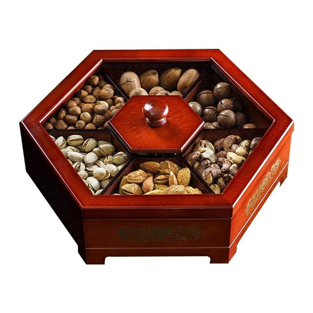 YLGROUP 木製フルーツ皿、クリエイティブクリエイティブホームキャンディードライフルーツフルーツバスケットレッドウッド-30センチメートルとフルーツボウル -02365   B07RZBKHGV