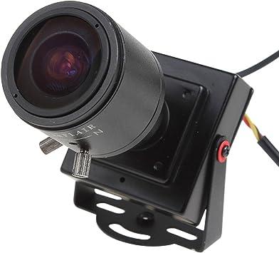 Opinión sobre ePathChina - Cámara espía pequeña para vigilancia, con visión nocturna por infrarrojos, sistema de codificación de señal PAL, objetivo manual de 2,8 a 12 mm, resolución 600 TVL, sensor CMOS 1/3 HD, CC de 12 V, cámara oculta de seguridad a color con vídeo y salida de audio, para circuito cerrado de televisión (CCTV)