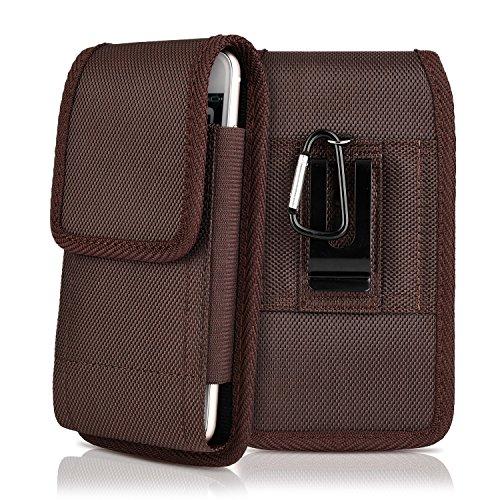 (kiwitatá Universal Vertical Oxford Canvas Belt Clip Case Rugged Pouch Holder Cover for Phone 8 Plus 6S Plus 7 Plus)
