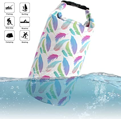 Amazon Com Tegos Waterproof Dry Bag Compression Roll Top Sack For Women Girls Fashion Unique Pattern Lightweight 10l Floating Kayaking Boating Rafting Diving Surfing Gym Yoga Swimming Hiking 5l 10l 20l Sports