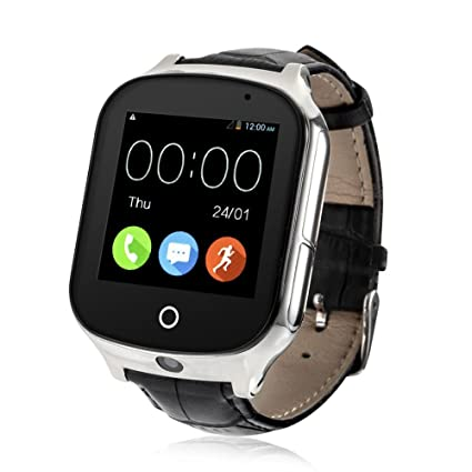Laxcido 3G WiFi Phone Call GPS Smart Watch, Real-time Tracking SOS GPS  Tracker Watch, Geo-Fence Elderly GPS Watch Touch Screen Camera Step Counter
