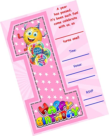 Partystuff Birthday Theme Cards 1st Birthday Invitation