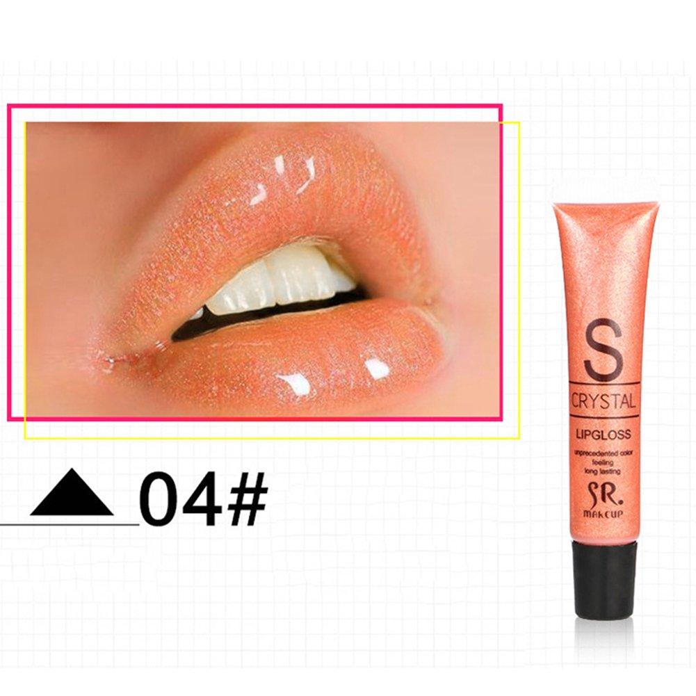 JIEPING 1PC 12ml Liquid Lip Gloss Shimmer Glitter Hose Shining Moisture Long Lasting Lipstick Moisturizer Makeup Tool 10#
