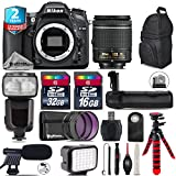 Holiday Saving Bundle for D7100 DSLR Camera + AF-P 18-55mm + Flash with LCD Display + Battery Grip + Shotgun Microphone + LED Kit + 2yr Extended Warranty + 32GB Class 10 - International Version