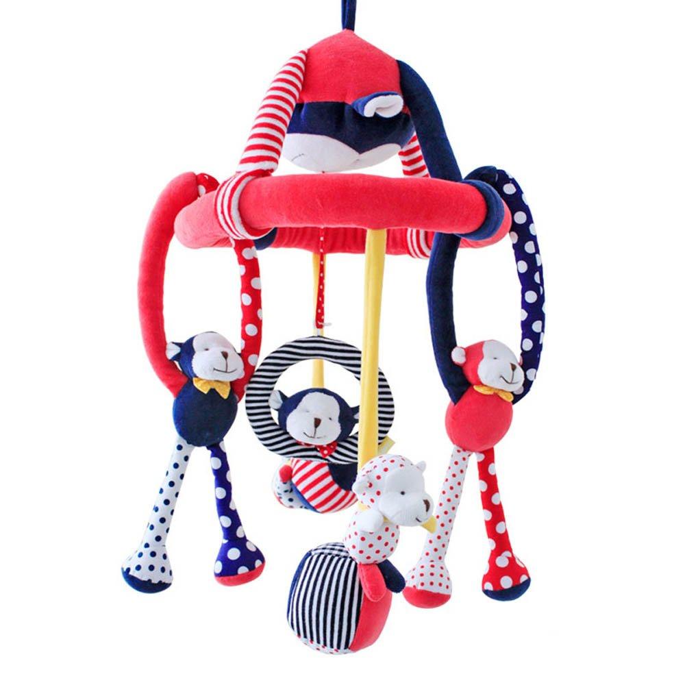 SHILOH Baby Crib Decoration 60 tunes Lullabies Plush Musical Mobile (Naughty Monkey)