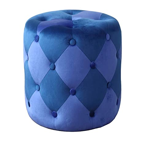 Strange Round Tufted Ottoman Velvet Ottoman Pouf Ottoman For Rest Machost Co Dining Chair Design Ideas Machostcouk