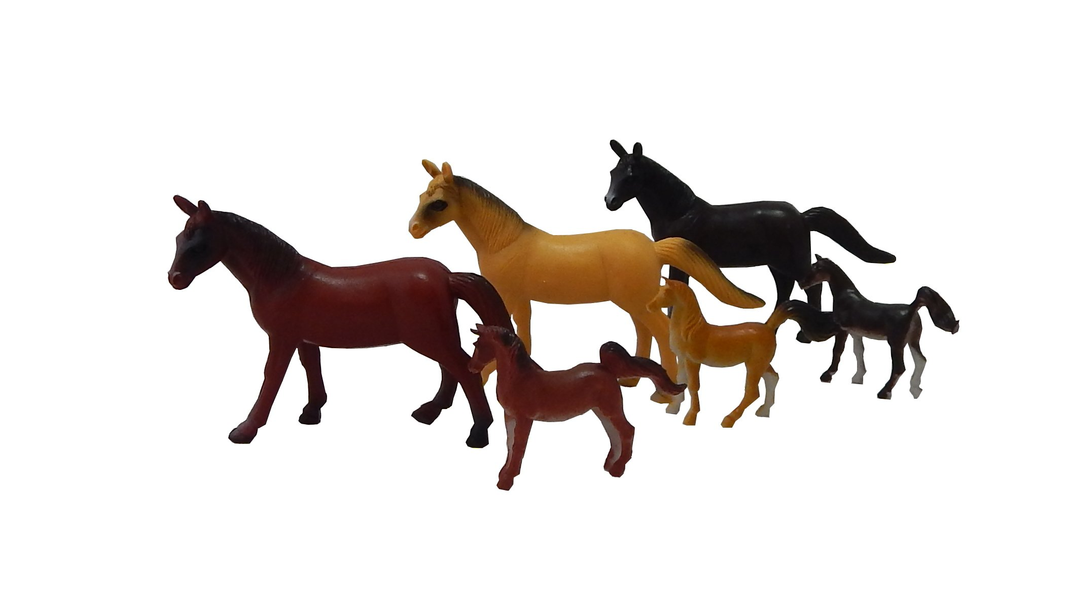 Pony & Horse Figures - 2 Dozen (24) Birthday Party Favors Prizes - Cupcake Toppers Teacher Rewards