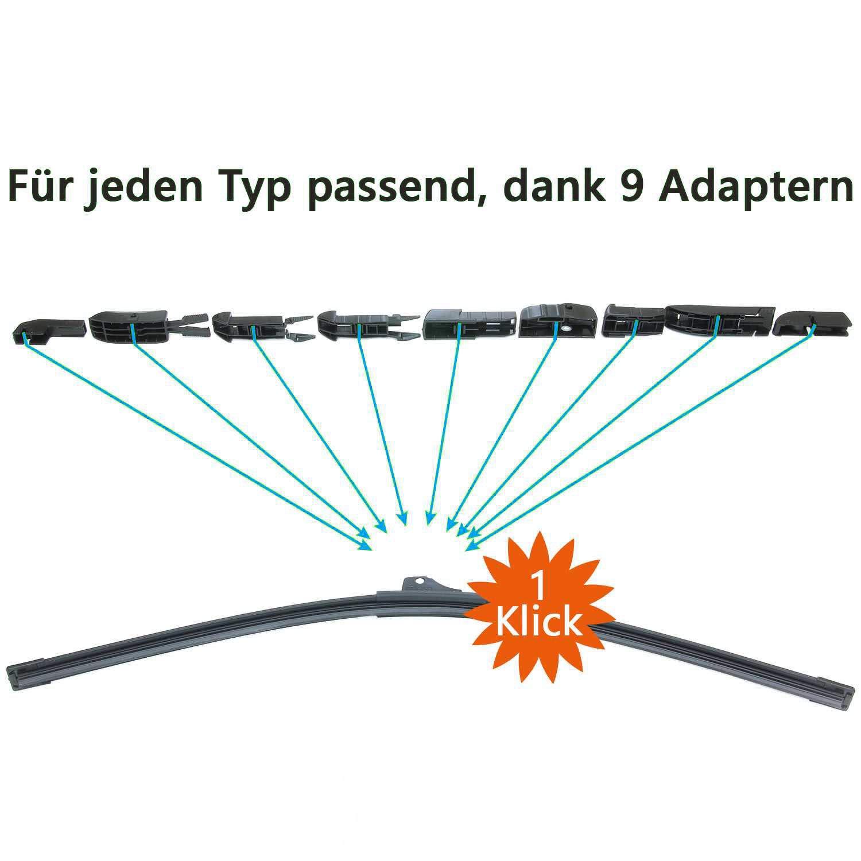 Trades-Best Front Scheibenwischer Set Satz Premium f/ür ForTwo 2007-2014 Typ 451