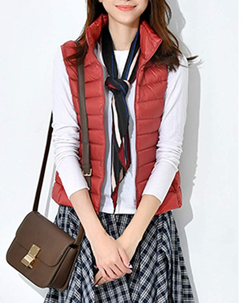 Women Light Weight Down Vest Waterproof Jacket Casual Slim Gilet Body Warm Coat