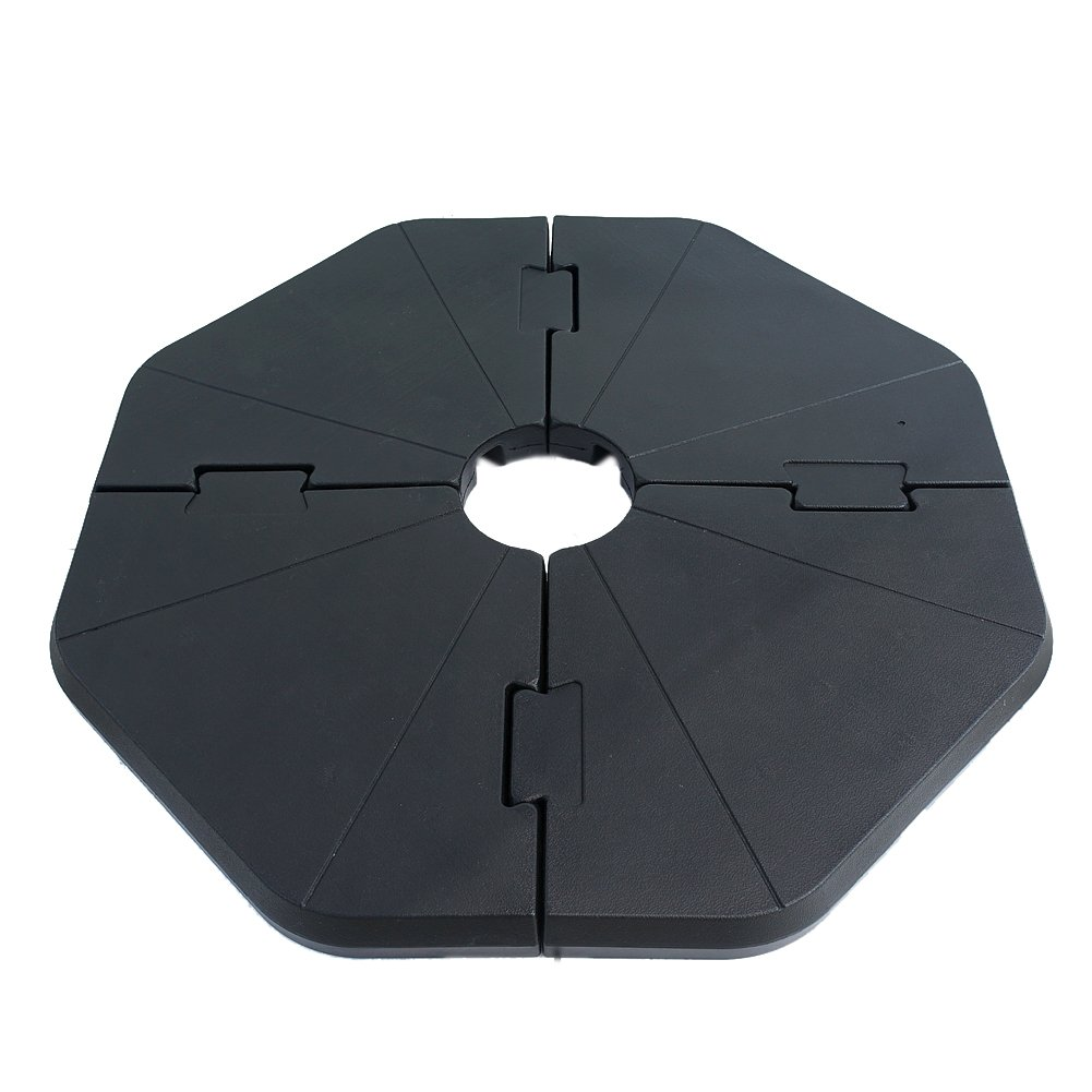 Le Papillon Patented Sand-Filled Plastic Base Weight Plates for Cantilever Offset Umbrella, Pack of 4 by Le Papillon (Image #1)