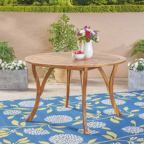 Teak One Round Table (Great Deal Furniture Adn Outdoor 47