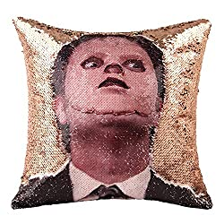 Dwight Schrute Reversible Sequin Pillow Cover