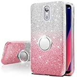 LG Stylo 4 Case, Silverback Girls Bling Glitter Sparkle Case With 360 Rotating Ring Stand, Soft TPU Outer Cover + Hard PC Inner Shell for LG Stylus 4/Stylo 4 2018 -Pink For Sale