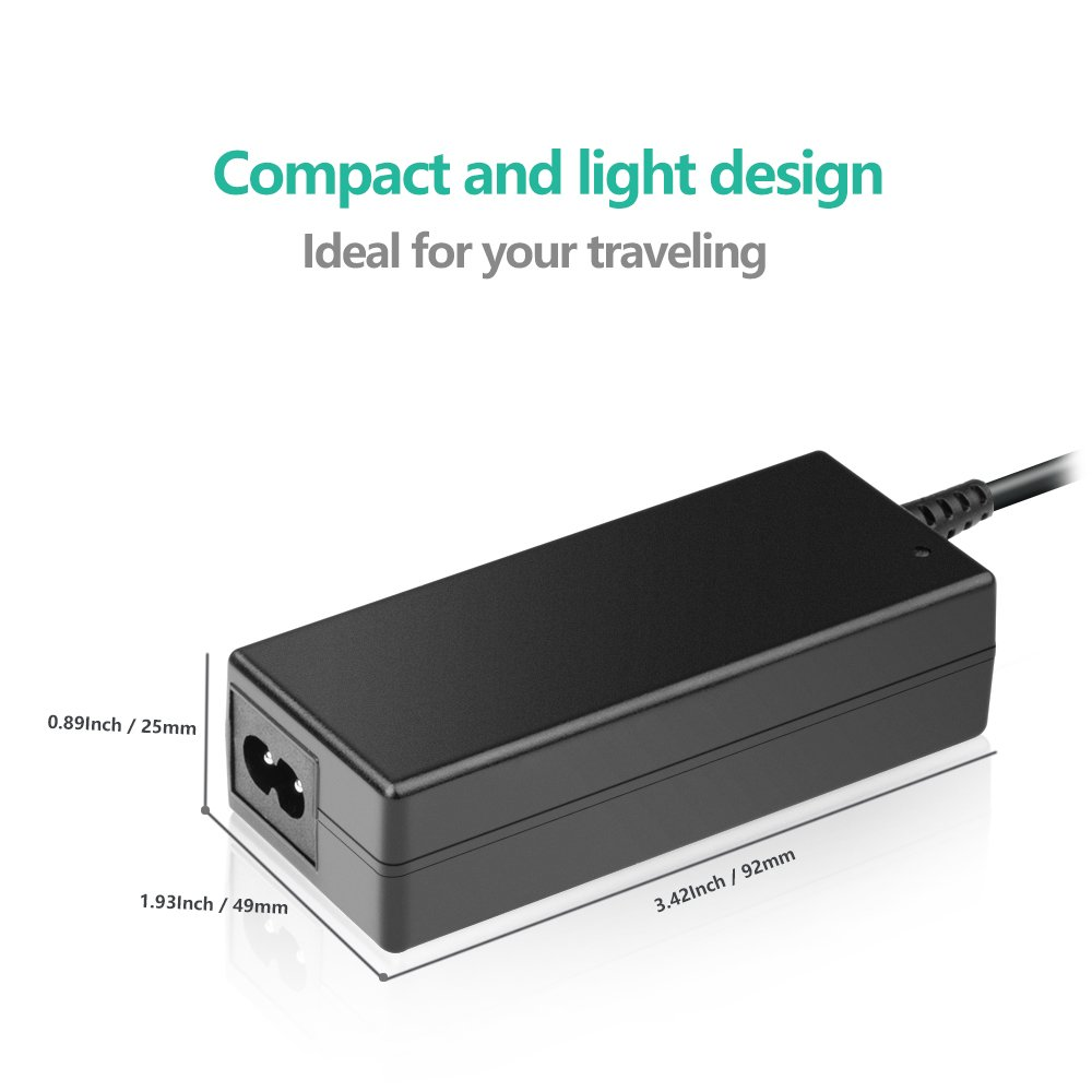 [UL Listed] TFDirect 24V 2.73A Universal Power Adapter with 6 Extra Tips,AC to DC,2.1mmX5.5mm Barrel Plug,24v 2.73a (24V 2.7A,24V 2.5A,24V 2A,24V 1.5A,24V 1A Compatible) Power Supply Cord Charger Plug by TFDirect (Image #2)