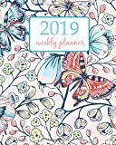 #8: 2019 Weekly Planner: Calendar Schedule Organizer Appointment Journal Notebook To do list and Action day 8 x 10 inch White Black Butterfly (Weekly & Monthly Planner 2019)