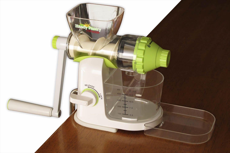 Amazon.com: Typhoon Manual Wheatgrass Juicer - Hand Crank Wheat Grass,  Fruit & Vegetable Juice Extractor: Kitchen & Dining